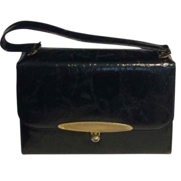 Risque Handbags - Risqué Black Faux Leather Satchel